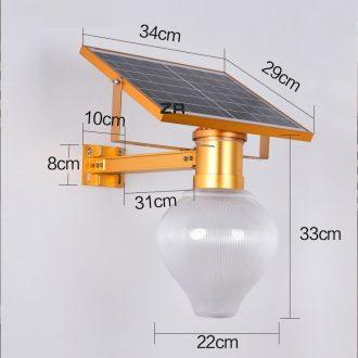 kích thước đèn sân vườn năng lượng mặt trời
