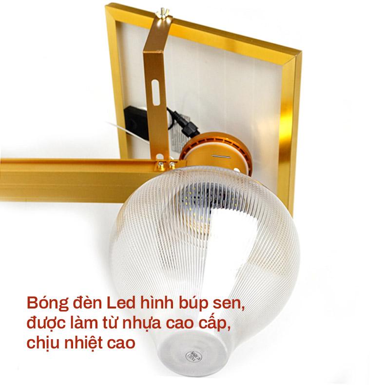 Bóng đèn làm từ nhựa cao cấp của đèn sân vườn năng lượng mặt trời