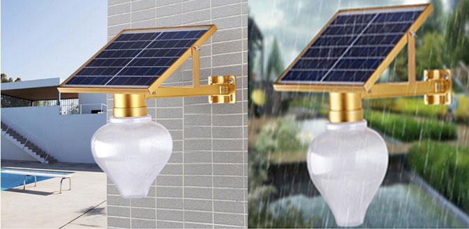 Khả năng chống nước đèn sân vườn năng lượng mặt trời