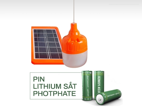 Pin Lithium đèn led bulbs năng lượng mặt trời