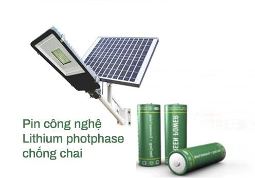 Pin công nghệ chống chai Lithium cho đèn năng lượng mặt trời