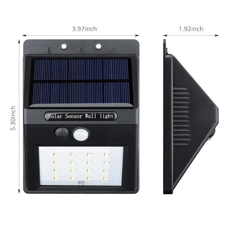 đèn cảm biến năng lượng mặt trời 4w 2