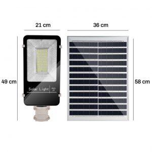 đèn năng lượng mặt trời JD 6650 100w