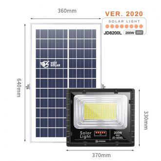 Đèn năng lượng mặt trời 200w chính hãng JD Solar được trang bị các tính năng hiện đại nhất