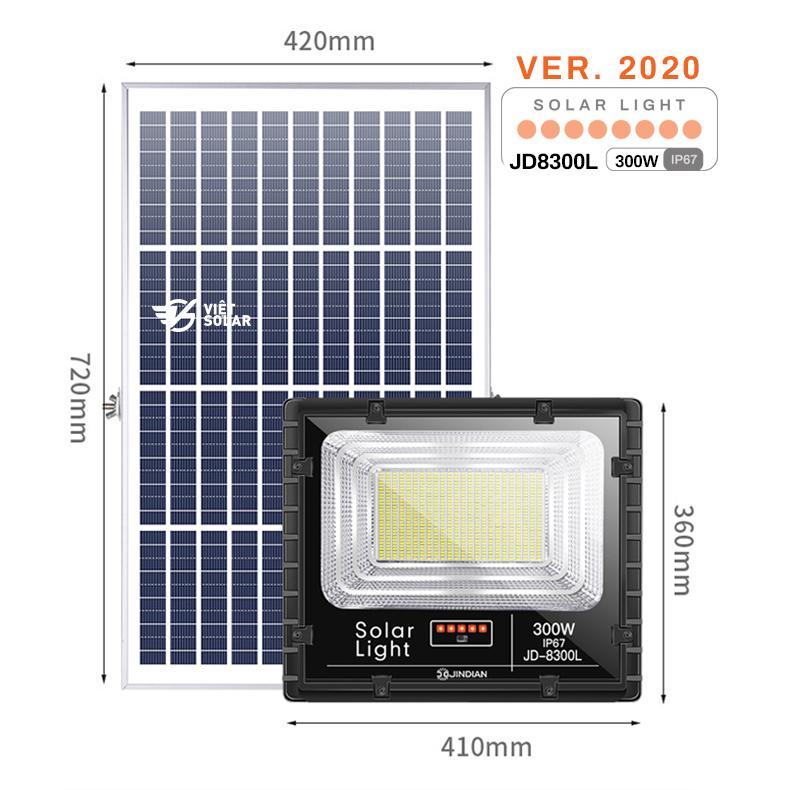 Đèn năng lượng mặt trời 300w chính hãng JD Solar được trang bị các tính năng hiện đại nhất