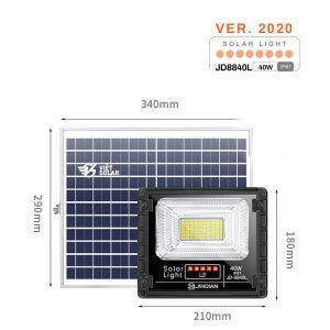 Đèn năng lượng mặt trời 40w chính hãng JD Solar được trang bị tính năng chống nước IP67