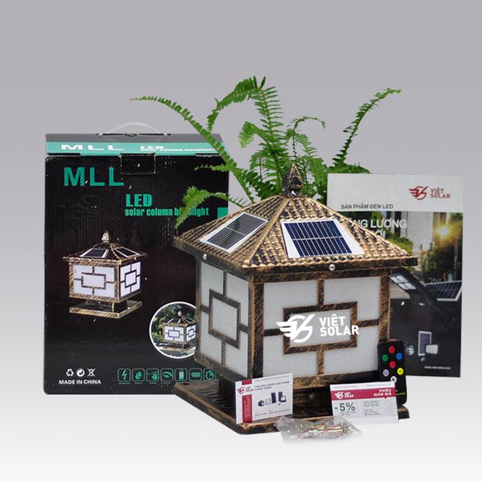 Bộ sản phẩm đèn trụ cổng năng lượng mặt trời SV02