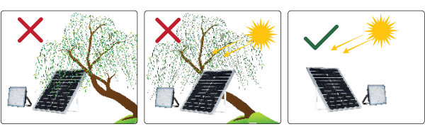 lắp đặt đúng cách đèn năng lượng mặt trời